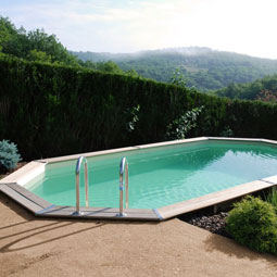 Piscina rectangular de madera 600 venta piscina for Piscina madera rectangular