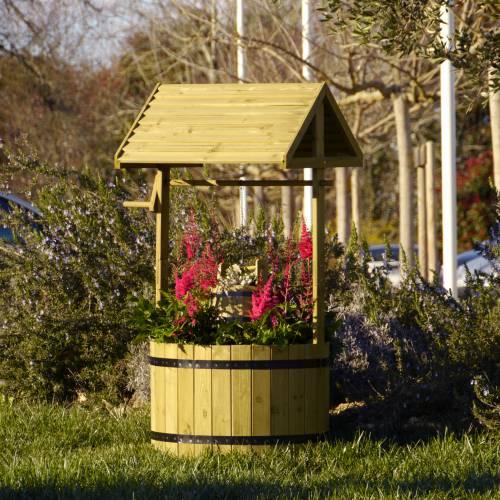 Pozo de madera xl venta pozo de madera xl for Puits decoratif jardin