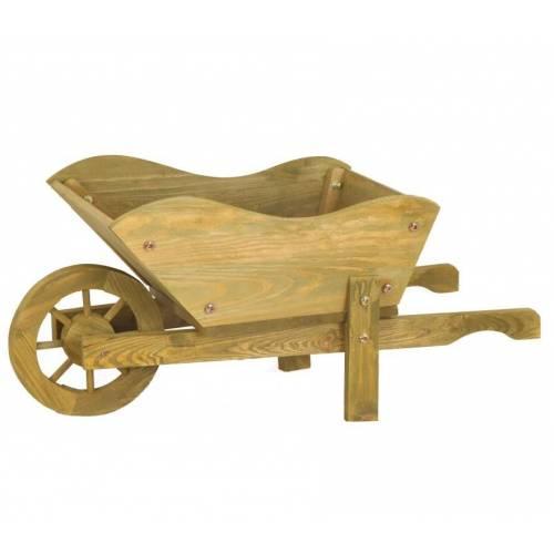 Carretilla decorativa de madera venta carretilla for Carretilla de madera para jardin