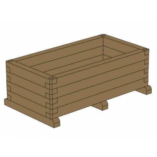 Jardinera de madera rectangular 120 venta jardinera de for Jardineras de madera grandes