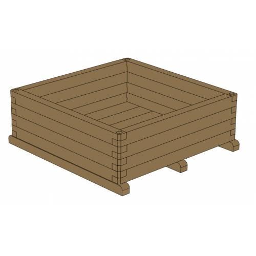 Jardinera de madera cuadrada 120 venta jardinera de - Jardinera de madera ...