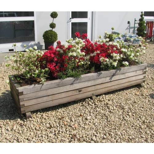 Jardinera de madera rectangular 233 venta jardinera de for Jardineras de hormigon baratas