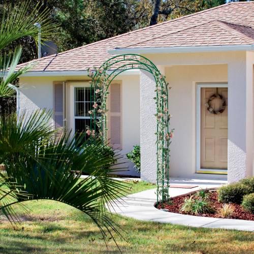 Arco de jard n en metal 39 rose 39 venta arco de jard n en for Arco decorativo jardin