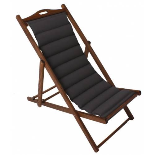 silla de playa plegable de lujo gris