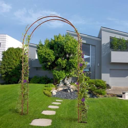 Arco de jard n en metal 39 wave 39 venta arco de jard n en for Arcos para jardin