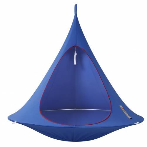 hamaca colgante cacoon doble azul