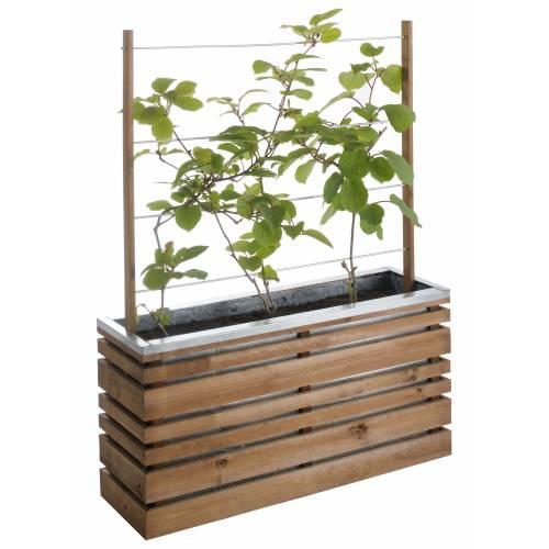 Jardinera de madera y metal con celos a lign z venta - Celosia con jardinera ...