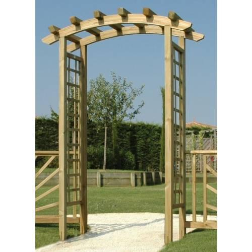 P rgola de madera en arco especial entrada venta p rgola - Arcos de madera para jardin ...