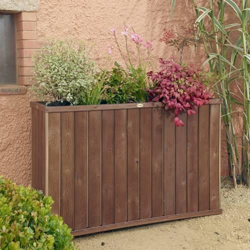 jardinera de madera design rectangular alta