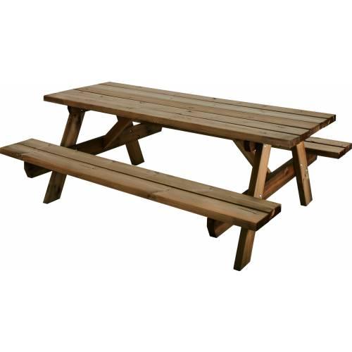 Mesa de jard n de madera garden 200b venta mesa de - Mesas de madera de jardin ...
