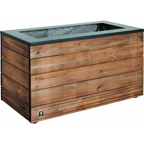 Jardinera rectangular selekt 45 x 90 x 47 cm venta - Jardineras de madera grandes ...