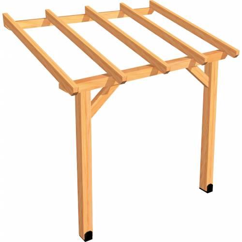 P rgola de madera adosada 2 x 1 5 m venta p rgola de - Postes de madera para pergolas ...