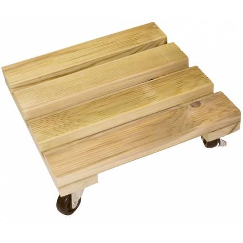 Soporte con ruedas cuadrado de madera 35 x 35 cm venta soporte con ruedas cuadrado de madera - Soporte con ruedas para tv ...