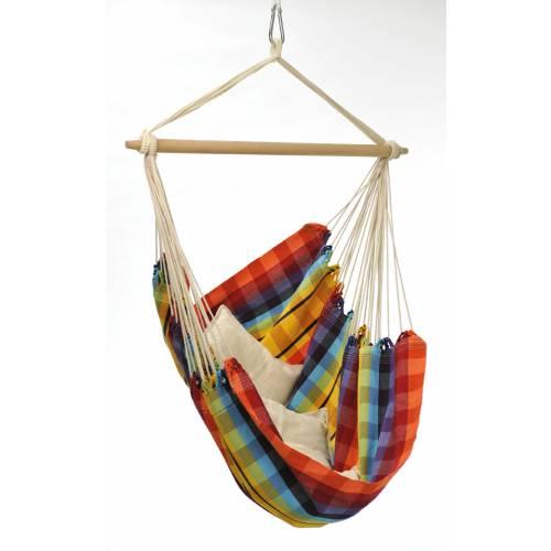Silla colgante 160 x 130 cm brasil rainbow venta silla - Silla colgante ...