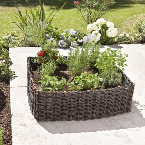 jardinera cuadrada de plantacin en mimbre