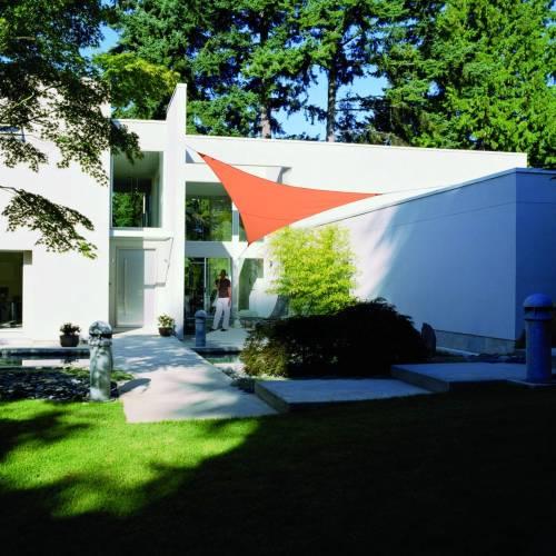 lona parasol impermeable triangular terracota venta lona parasol impermeable triangular. Black Bedroom Furniture Sets. Home Design Ideas