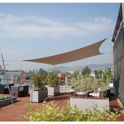 Lona parasol impermeable cuadrada terracota venta lona - Lonas para el sol ...