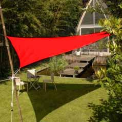Lona parasol impermeable triangular - rojo