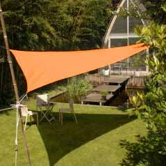 Lona parasol impermeable triangular - terracota