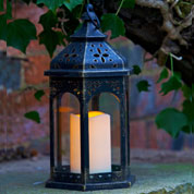 Farol con LED - Estilo Marroqui - Smart Garden